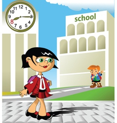 Hi school vector