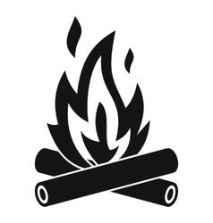 Campfire icon simple style vector image