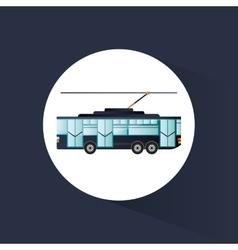 Tram vehicle and transportation design vector