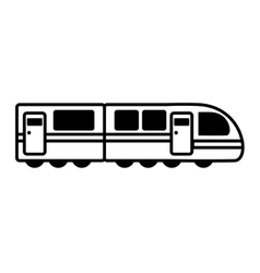 Tram transport vehicle isolated icon vector