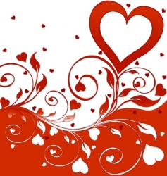 flower background with hearts vector image
