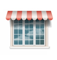 big window with sunshade marquise vector image