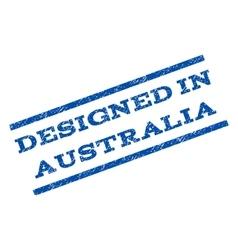 Designed in australia watermark stamp vector
