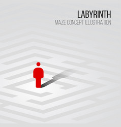 Labyrinth concept vector