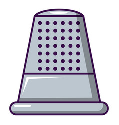 Thimble icon cartoon style vector