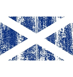 Scottish grunge flag vector image