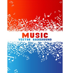 Red and blue music background vector