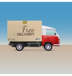 Delivery car vector