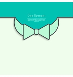 Abstract background with bow tie vector