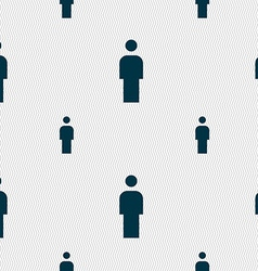 Human Man Person Male toilet icon sign Seamless vector image