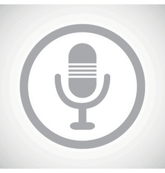 Grey microphone sign icon vector