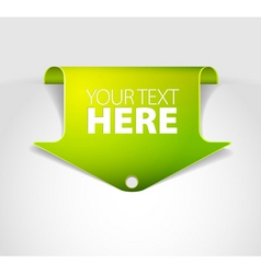 Arrow bookmark vector