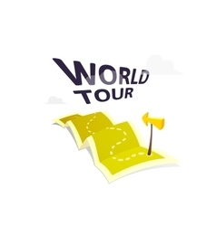 World tour concept logo isolated on white vector