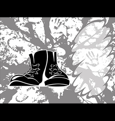 Grungy shoes vector