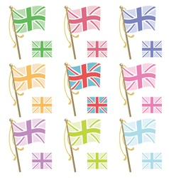 Uk flags vector