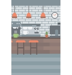 Background of coffee house vector