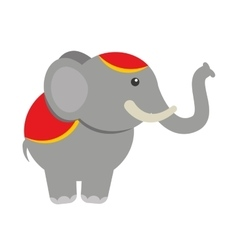 Circus elephant isolated icon design vector