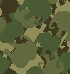 Army Pattern elephant Camo background of green vector image vector image