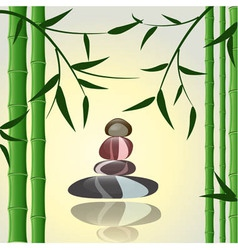 bamboo spa background vector image