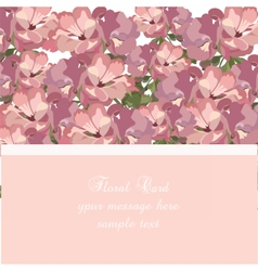 Beautiful watercolor pink flowers card vector