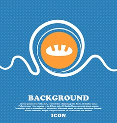 Bread icon sign blue and white abstract background vector