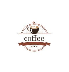 coffee cafe emblem logo vector image