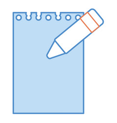 crayon color with notebook vector image