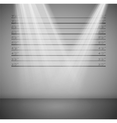 criminal lineup background vector image vector image