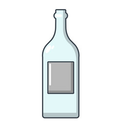 empty bottle icon cartoon style vector image