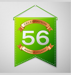 fifty six years anniversary celebration design vector image