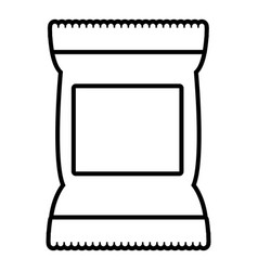 food snack pillow bag icon outline style vector image