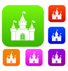 Fortress set collection vector