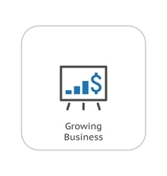 Growing business icon business presentation flat vector