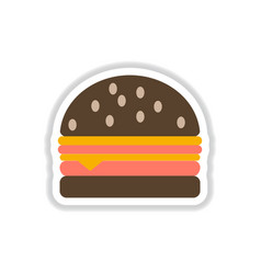 Hamburger icon burger sticker vector