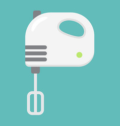 Hand mixer flat line icon household and appliance vector