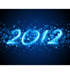 happy new year 2012 message vector image