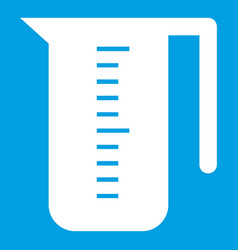 Measuring cup icon white vector