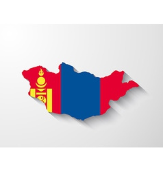 Mongolia map with shadow effect vector