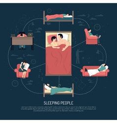 Of Sleeping People vector image