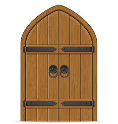 old wooden door vector image