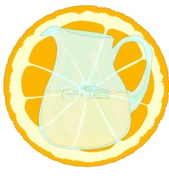 Orangeade with slice vector