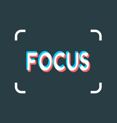 Photo camera focusing screen vector