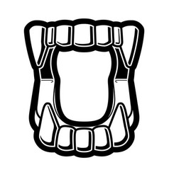Plastic vampire halloween fangs icon vector