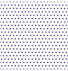 Polka dot blue seamless pattern vector image