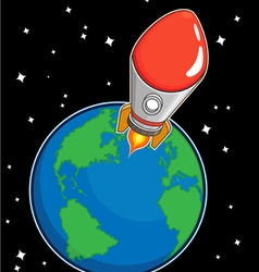 Rocket Fly from Earth vector image vector image
