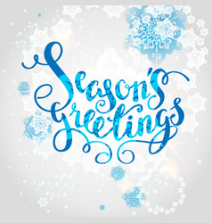 snowflakes season background vector image vector image