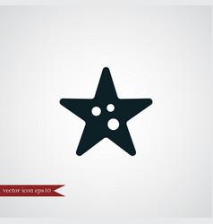 starfish icon simple vector image vector image