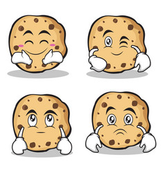 sweet cookies character cartoon set collection vector image