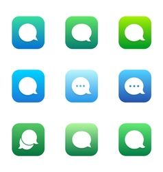 Talk bubble comment and message logo icons set vector