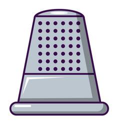 Thimble icon cartoon style vector